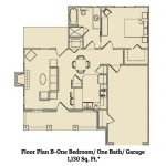 1 bedroom / 1 bath apartment floorplan Marble Falls TX