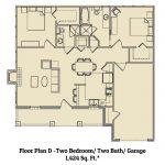 2 bedroom / 2 bath apartment floorplan Marble Falls TX